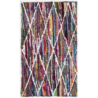Safavieh Handmade Nantucket Modern Abstract Multicolored Cotton Rug (2' 3 x 4')