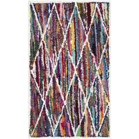 Safavieh Handmade Nantucket Modern Abstract Multicolored Cotton Rug - 2'3 x 4'