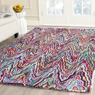 Safavieh Handmade Nantucket Abstract Chevron Multicolored Cotton Rug (6' x 6' Square)