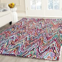 Safavieh Handmade Nantucket Abstract Chevron Multicolored Cotton Rug - 6' Square