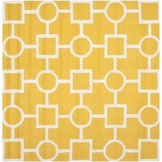 Safavieh Handmade Moroccan Cambridge Gold/ Ivory Wool Area Rug (8' Square)