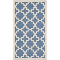 Safavieh Courtyard All-Weather Blue/ Beige Indoor/ Outdoor Rug - 2'7 x 5'