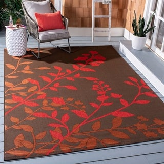Safavieh Courtyard Luann Botanical Indoor/ Outdoor Rug