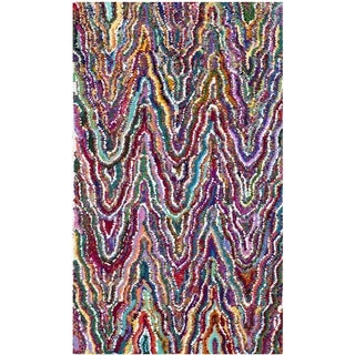 Safavieh Handmade Nantucket Abstract Chevron Multicolored Cotton Rug (3' x 5')