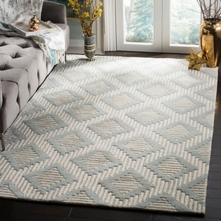 Safavieh Handmade Moroccan Chatham Collection Gray/ Ivory Wool Rug (4' x 6')