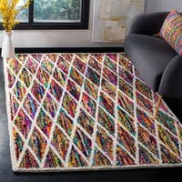 Safavieh Handmade Nantucket Modern Abstract Multicolored Cotton Area Rug - 4' x 6'