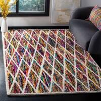 Safavieh Handmade Nantucket Modern Abstract Multicolored Cotton Rug (5' x 8')