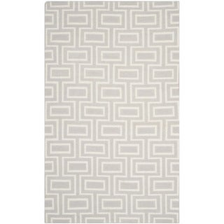 Safavieh Hand-woven Moroccan Reversible Dhurries Grey/ Ivory Wool Rug (6' x 9')