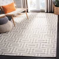 Safavieh Hand-woven Moroccan Reversible Dhurries Grey/ Ivory Wool Rug - 9' x 12'