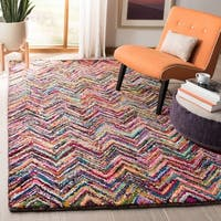 Safavieh Handmade Nantucket Abstract Chevron Multicolored Cotton Rug - 7'6 x 9'6