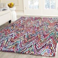 Safavieh Handmade Nantucket Abstract Chevron Multicolored Cotton Rug - 7'6 x 9'6