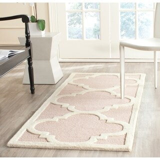 Safavieh Cambridge Light Pink/ Ivory Moroccan Contemporary-style Handmade Wool Rug (2'6 x 6')