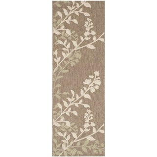 Safavieh Indoor/ Outdoor Courtyard Brown/ Beige Rug (2'3 x 6'7)