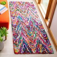 Safavieh Handmade Nantucket Abstract Chevron Multicolored Cotton Runner Rug - 2'3 x 7'