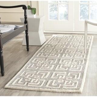 Safavieh Handmade Precious Silver Polyester/ Wool Rug (2'6 x 8')