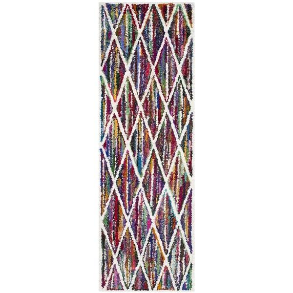 Safavieh Handmade Nantucket Modern Abstract Multicolored Cotton Runner Rug (2' 3 x 9')