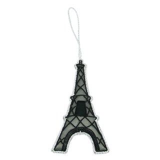 Handcrafted Beaded Eiffel Tower Ornament (India)