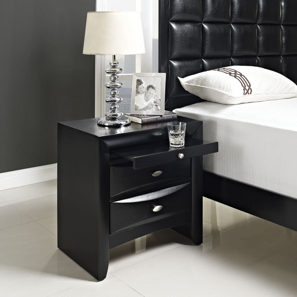 Harrison Charcoal 2-drawer Nightstand