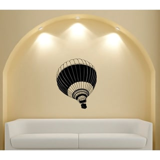 Hot Air Balloon Glossy Black Vinyl Wall Decal