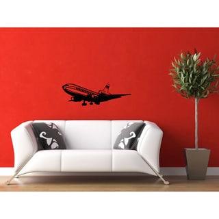 Soaring Airplane Vinyl Wall Decal