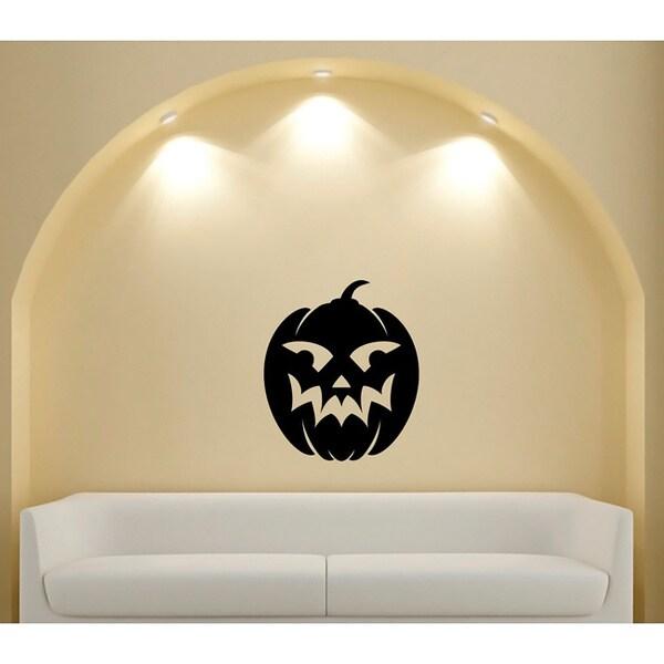 Smiling Jack-O-Lantern Pumpkin Vinyl Wall Decal