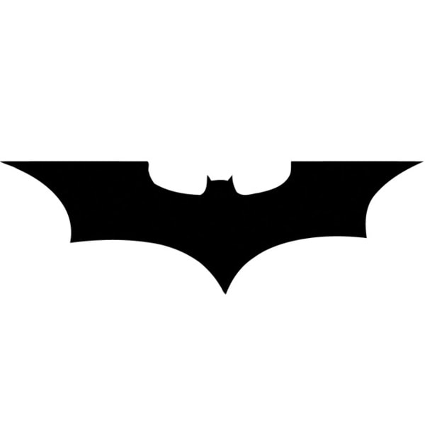 Batman Bat Wings Glossy Black Vinyl Wall Decal