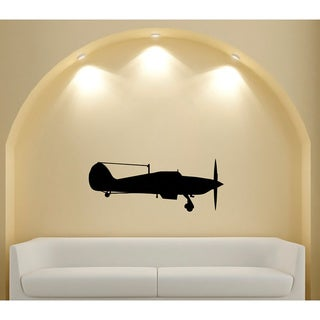 Vintage Aircraft Silhouette Vinyl Sticker Wall Decal