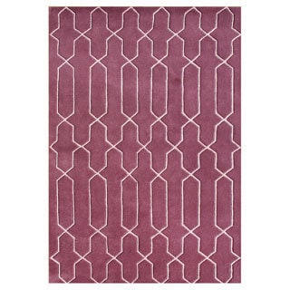 Hand-tufted Magenta/ Candy Pink Blend Wool Area Rug (5' x 8')