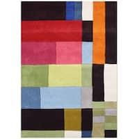 Handmade Alliyah Multicolored New Zealand Blended Wool Rug (5 x 8) - 5' x 8'