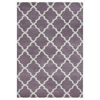 Handmade Lilac/ Moon Beam Blend Wool Area Rug - 5' x 8'