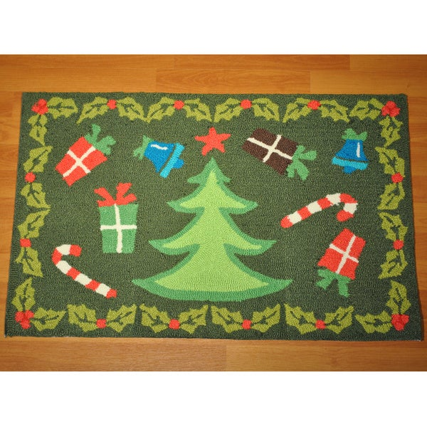 Shop Christmas Tree Rug 2 X 4 Free Shipping On