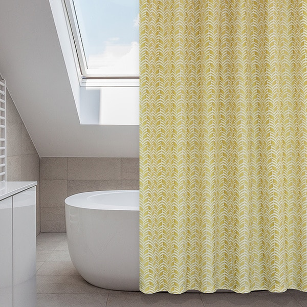 Metro Buttercup Mustard Yellow 14 Piece Shower Curtain Set