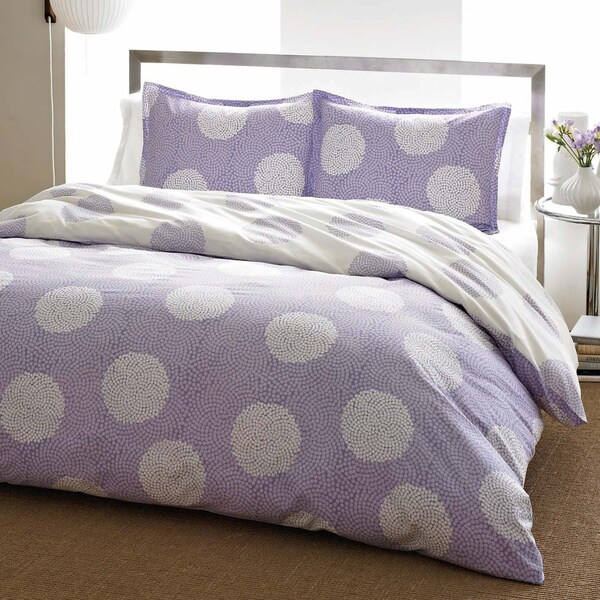 City Scene Raindance Wisteria Reversible 3-piece Comforter Set