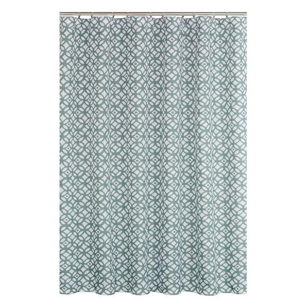Madison Slate Blue 14 Piece Shower Curtain Set