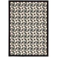 Joseph Abboud Griffith Onyx Area Rug by Nourison - 3'6 x 5'6