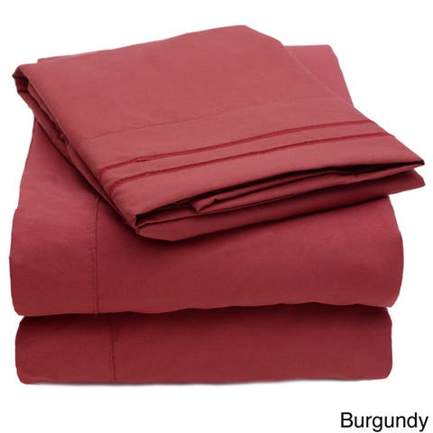 Embroidered 4-piece Bed Sheet Set