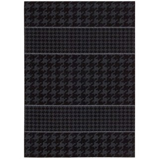 Joseph Abboud Griffith Charcoal Area Rug by Nourison (3'6 x 5'6)