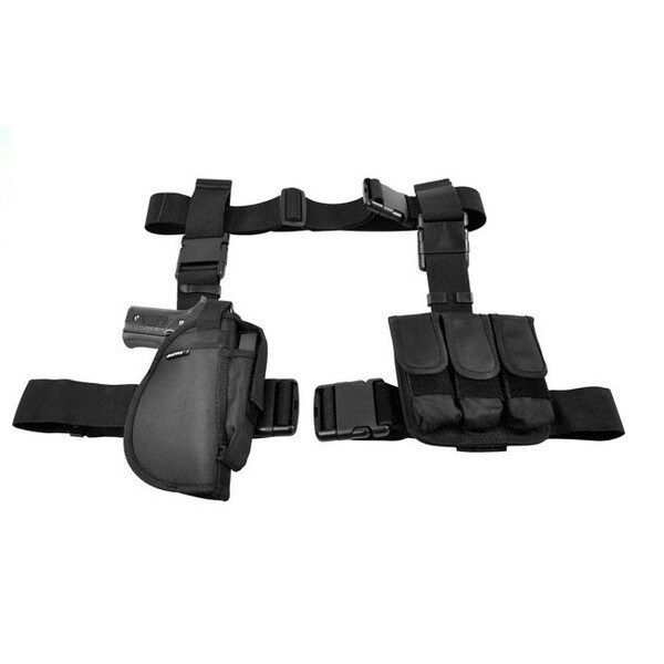 NcStar 3 Piece Drop Leg Holster/Mag Holder Black