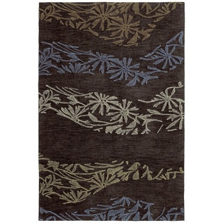 Copia Chocolate 2x3 Polyester Rug - 2' x 3'