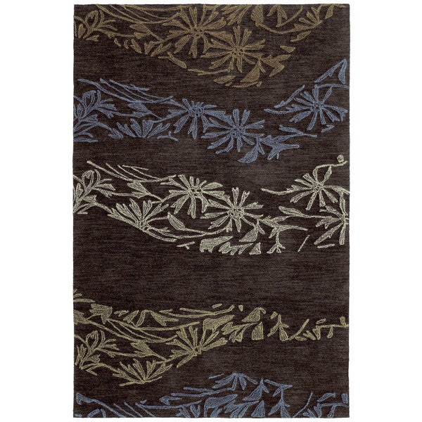 Copia Chocolate 2x3 Polyester Rug