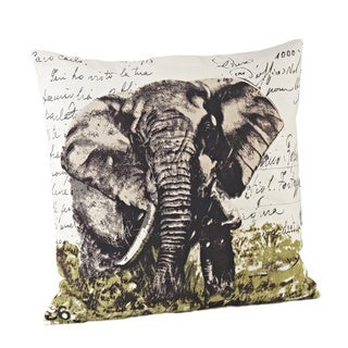 Elephant Design 18-inch Down Fill Throw Pillow