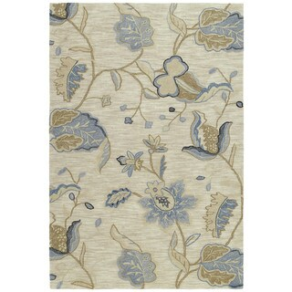 Copia Sand Floral 4x6 Polyester Rug
