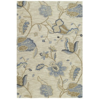 Copia Sand Floral 5x7.6 Polyester Rug