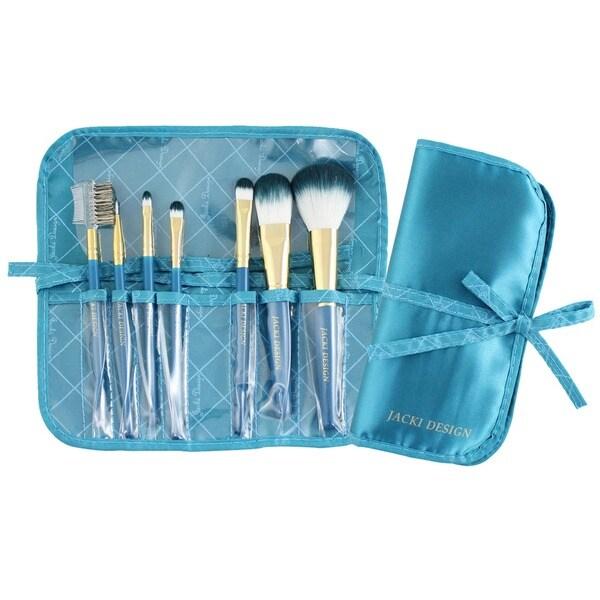 Jacki Design Vintage Allure 7-piece Makeup Brush and Case Set