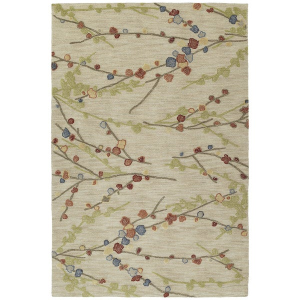 Copia Sand Blossom 4x6 Polyester Rug
