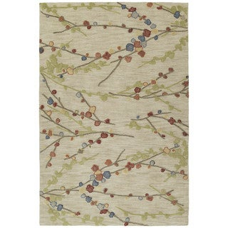 Copia Sand Blossom 9x12 Polyester Rug