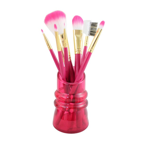 Jacki Design Summer Bliss 7-piece Makeup Brush Set and Holder
