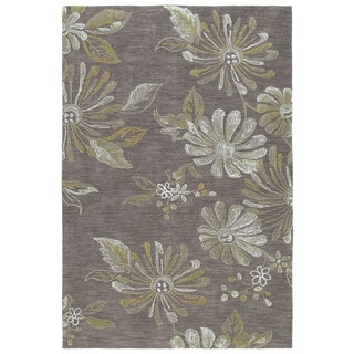Copia Light Brown 8x10 Polyester Rug