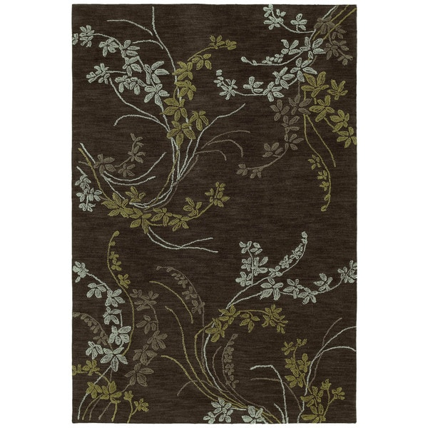 Copia Chocolate Vines Polyester Rug - 9' x 12'