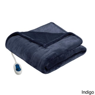 Beautyrest Microlight Reverse to Berber Heated Throw